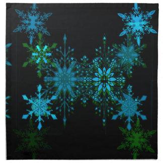 Serviettes En Tissus Flocons de neige