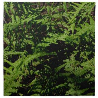 Serviettes En Tissus Fougères vertes
