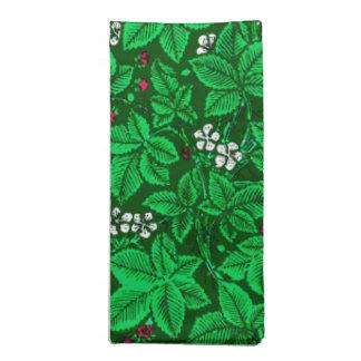 Serviettes En Tissus Fraises de Nouveau d'art et feuille, vert vert