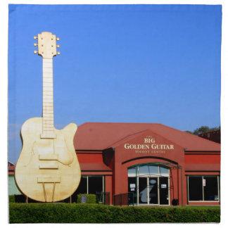Serviettes En Tissus Grande guitare d'or, Tamworth, Australie