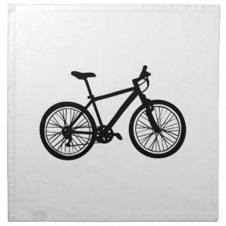 Serviettes En Tissus Griffonnage tiré par la main simple de bicyclette