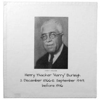 "Serviettes En Tissus Henry Thacker ""Harry"" Burleigh"