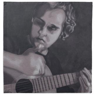Serviettes En Tissus Homme à la guitare