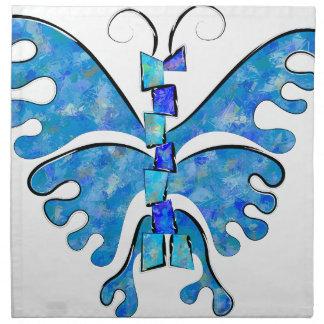 Serviettes En Tissus Icelonius - papillon bleu de glace