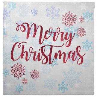 Serviettes En Tissus Joyeux Noël 2