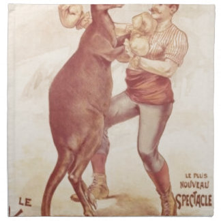 Serviettes En Tissus Kangourou de boxe