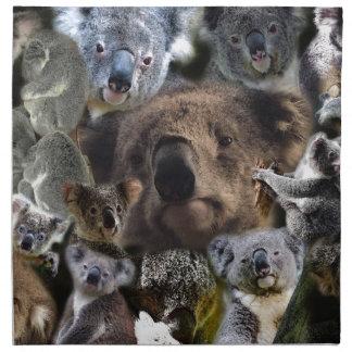 Serviettes En Tissus Koala heureux