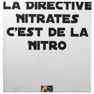 Serviettes En Tissus La Directive Nitrates, c'est de la Nitro - Jeux de
