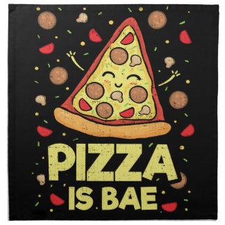 Serviettes En Tissus La pizza est Bae - bande dessinée drôle mignonne