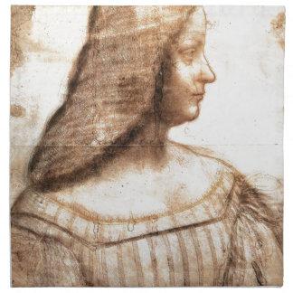 Serviettes En Tissus Leonardo da Vinci - peinture d'Isabella D'este