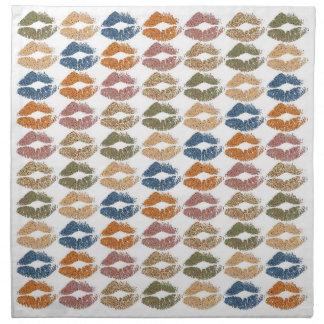 Serviettes En Tissus Lèvres colorées élégantes #17