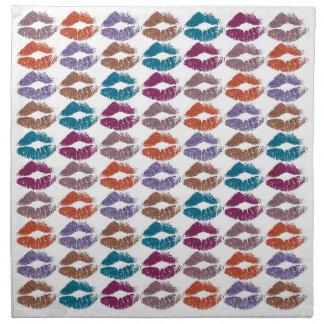 Serviettes En Tissus Lèvres colorées élégantes #20