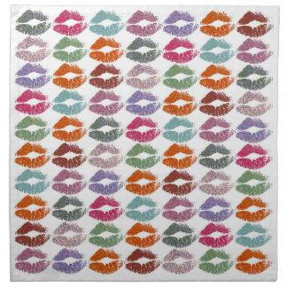 Serviettes En Tissus Lèvres colorées élégantes #27