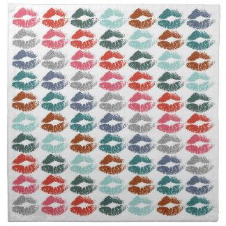 Serviettes En Tissus Lèvres colorées élégantes #33