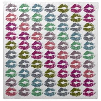 Serviettes En Tissus Lèvres colorées élégantes #34