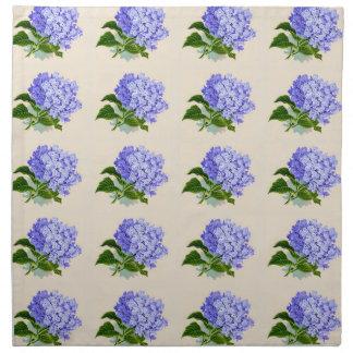 Serviettes En Tissus L'hortensia pourpre fleurit le motif vintage