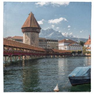 Serviettes En Tissus Luzerne de pont de chapelle, Suisse