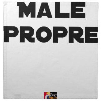 Serviettes En Tissus MÂLE-PROPRE - Jeux de mots - Francois Ville