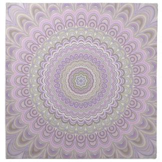 Serviettes En Tissus Mandala floral en pastel de cercle