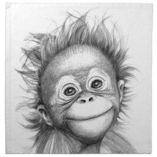 Serviettes En Tissus Monkey - Baby Orang outan 2016 G-121