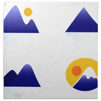 Serviettes En Tissus Montagnes exotiques de l'Asie bleues