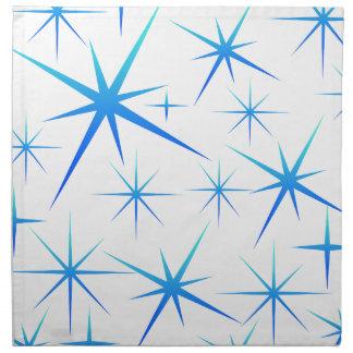 Serviettes En Tissus Motif bleu de flocon de neige