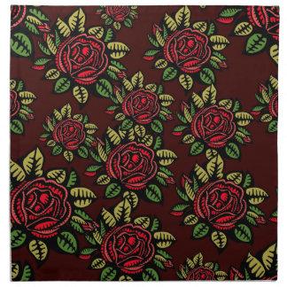 Serviettes En Tissus Motif de roses