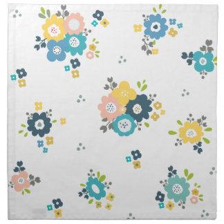 Serviettes En Tissus Motif floral coloré