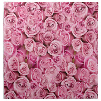 Serviettes En Tissus Motif floral de photo de roses roses sensibles