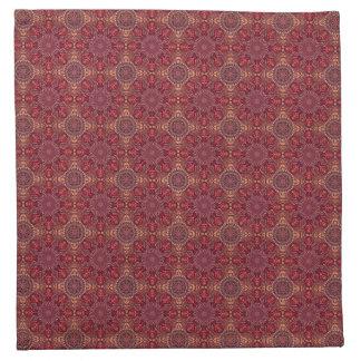 Serviettes En Tissus Motif floral ethnique abstrait coloré de mandala