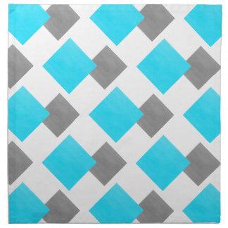 Serviettes En Tissus Motif géométrique de blanc gris d'Aqua