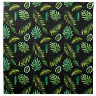 Serviettes En Tissus Motif tropical Tiki floral fait main de feuille