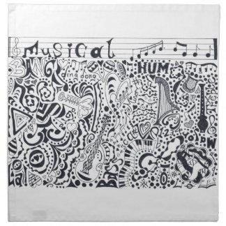 Serviettes En Tissus Musical