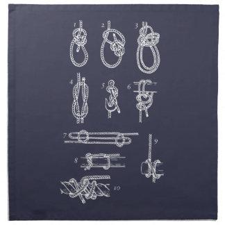 Serviettes En Tissus Nautical knots