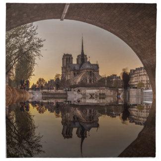 Serviettes En Tissus Notre-Dame, PAris, France