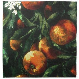 Serviettes En Tissus Oranges