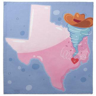 Serviettes En Tissus Ouragan du Texas
