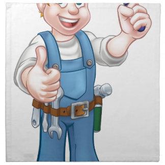 Serviettes En Tissus Outil de truelle de travailleur de la construction
