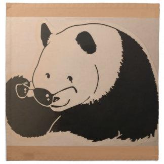 Serviettes En Tissus Panda frais avec des nuances
