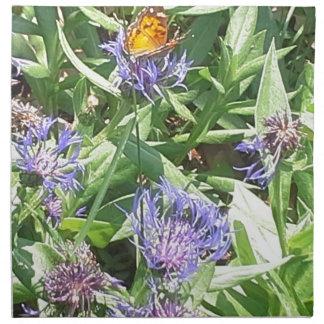 Serviettes En Tissus Papillon sur Coneflower pourpre
