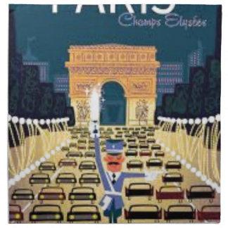 Serviettes En Tissus Paris Arc de Triomphe