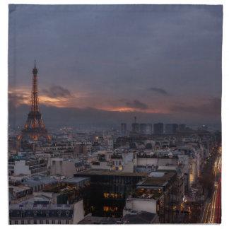 Serviettes En Tissus Paris by night