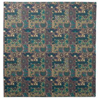 Serviettes En Tissus Patchwork vintage avec les éléments floraux de