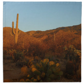 Serviettes En Tissus Paysage de désert du coucher du soleil I Arizona