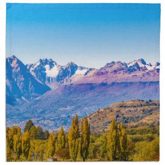Serviettes En Tissus Paysage de lac et de montagnes, Patagonia, Chili