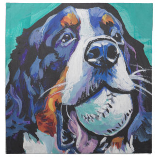 Serviettes En Tissus Peinture d'art de bruit de chien de montagne de