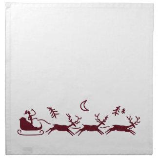 Serviettes En Tissus Père Noël et Noël de renne