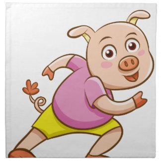 Serviettes En Tissus porc