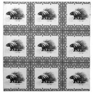 Serviettes En Tissus porc-épic en cubes
