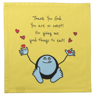 Serviettes En Tissus Prière du repas des enfants bleus d'Emoji
